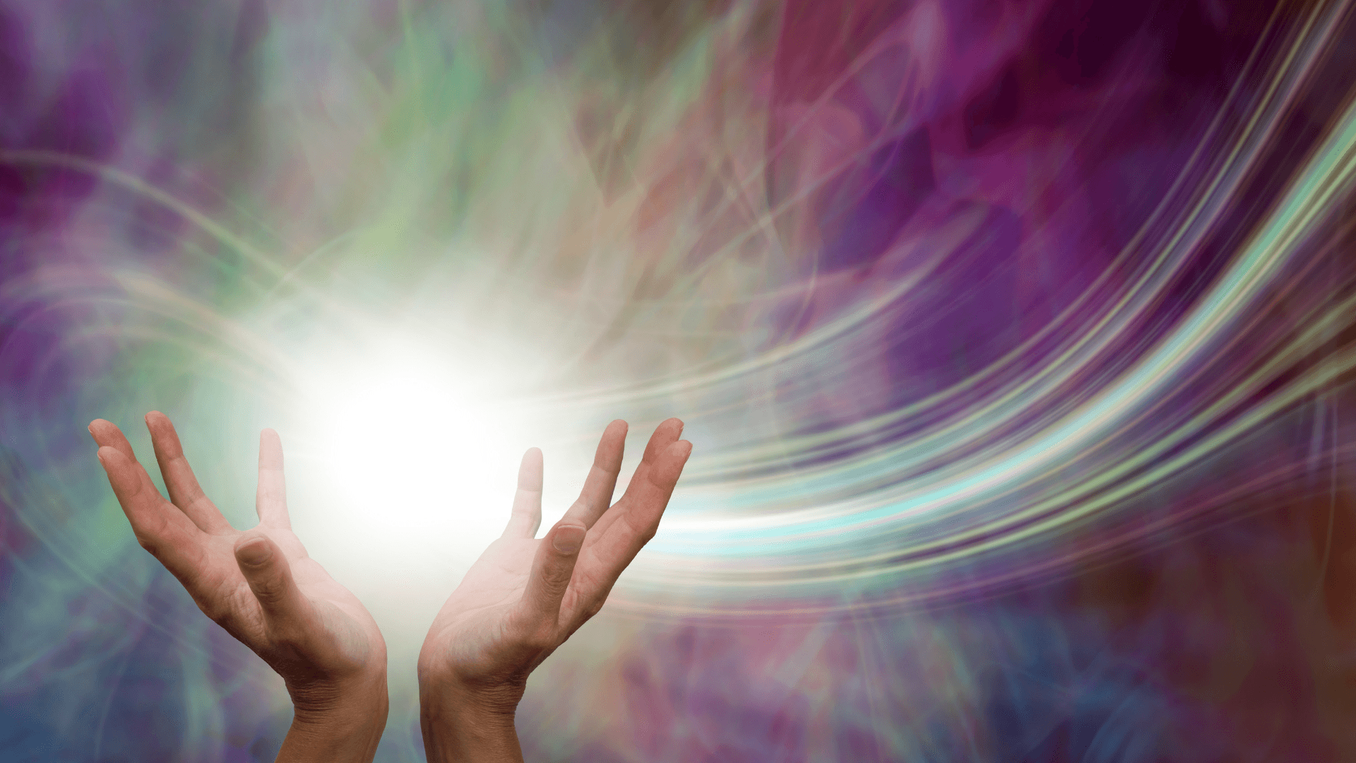 Energy from hands.